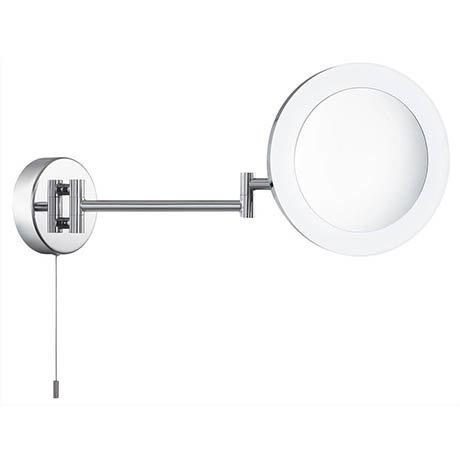 Searchlight IP44 Chrome Illuminated Adjustable Bathroom Mirror - 1456CC