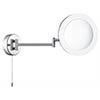 Searchlight IP44 Chrome Illuminated Adjustable Bathroom Mirror - 1456CC profile small image view 1