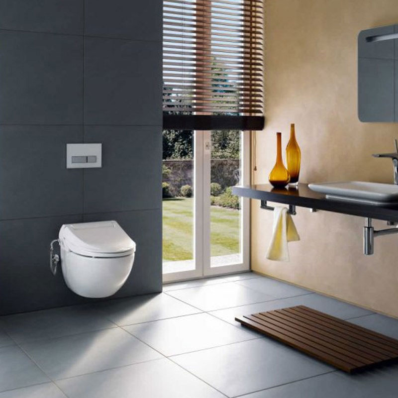 Geberit - AquaClean 4000 Shower Soft Close Toilet Seat In Bathroom Large Image