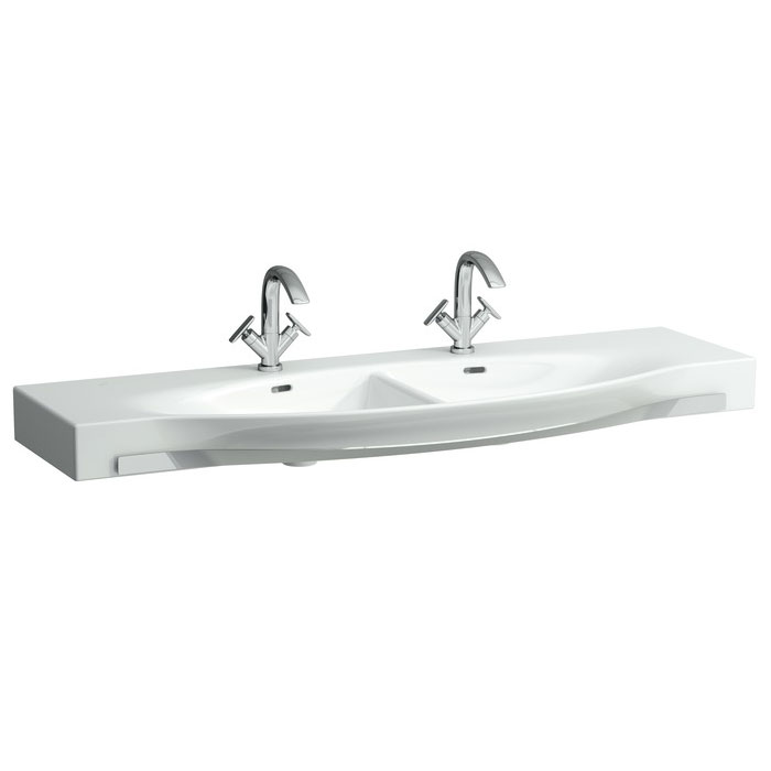 Laufen - Palace 1500mm Double Countertop Basin with Towel Rail - 14706 Large Image