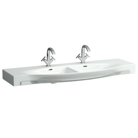 Laufen - Palace 1500mm Double Countertop Basin with Towel Rail - 14706