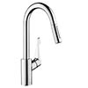 Hansgrohe Cento XL Single Lever Kitchen Mixer with Pull Out Spray - 14803000 profile small image view 1