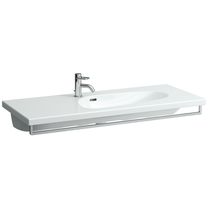 Laufen - Palomba 1 Tap Hole 1200mm Countertop Basin with Towel Rail Large Image