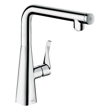 hansgrohe Metris Select M71 Single Lever Kitchen Mixer 260 - Chrome - 14847000