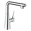 hansgrohe Metris Select M71 Single Lever Kitchen Mixer 260 - Chrome - 14847000 profile small image view 1