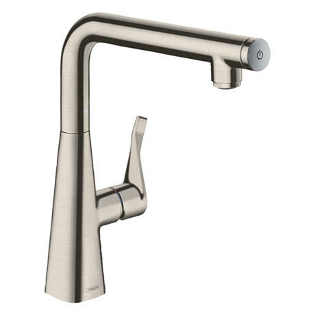 hansgrohe Metris Select M71 Single Lever Kitchen Mixer 260 - Stainless Steel - 14847800