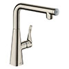 hansgrohe Metris Select M71 Single Lever Kitchen Mixer 260 - Stainless Steel - 14847800 profile small image view 1