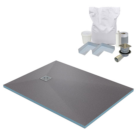 1400 x 900 Wet Room Walk In Rectangular Tray Former Kit (End Waste)