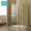 Matrix 1400 x 800mm Ultimate Walk In Enclosure + Side Panel Only 10mm (No Tray) profile small image view 1