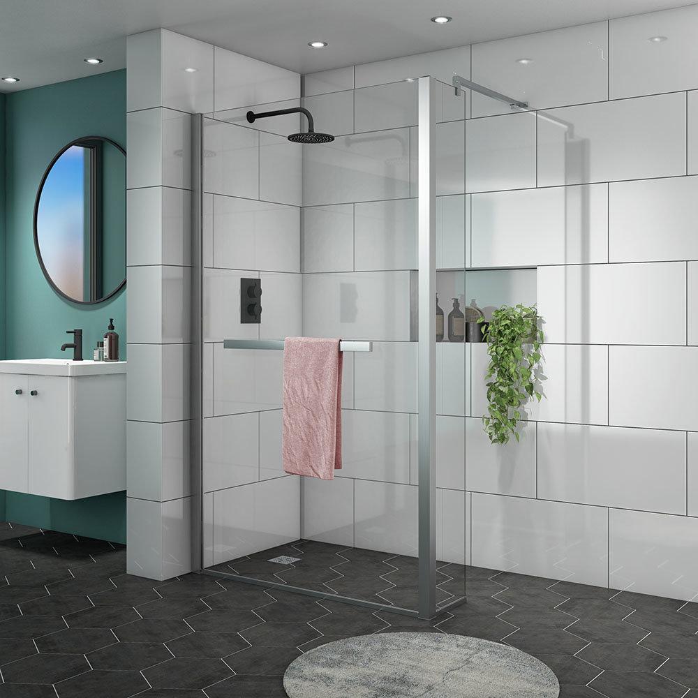 Matrix 10mm (1400 x 800mm) Wet Room Shower Enclosure