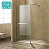 Matrix 10mm (1400 x 800mm) Wet Room Shower Enclosure profile small image view 1