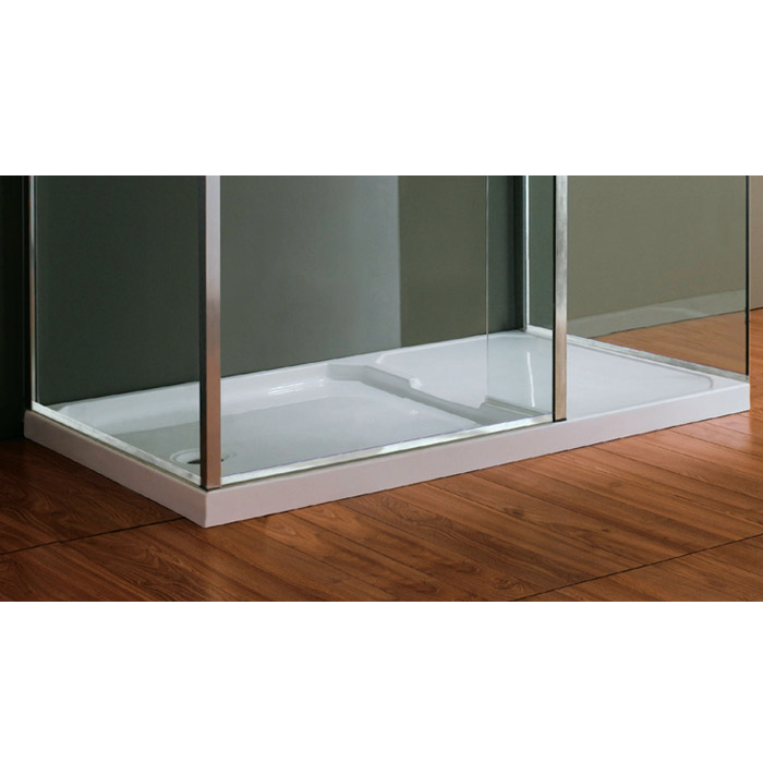 Matrix 1400 x 800mm Ultimate Walk In Enclosure 10mm with Side Panel & Tray Feature Large Image
