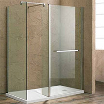 Matrix 1400 x 800mm Ultimate Walk In Enclosure 10mm (Inc. Side Panel + Tray) Medium Image
