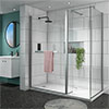 Matrix 1400 x 800mm Ultimate Walk In Enclosure 10mm (inc. Side Panel + Tray) profile small image view 1
