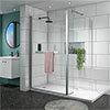 Matrix 1400 x 800mm Ultimate Walk In Enclosure 10mm + Tray profile small image view 1
