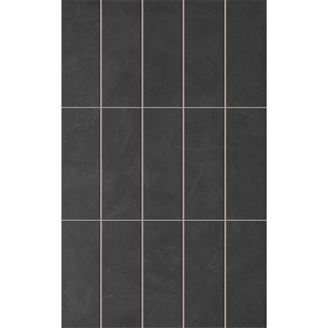 15 Taranto Matt Black Pre Cut Wall Tiles - 25 x 40cm