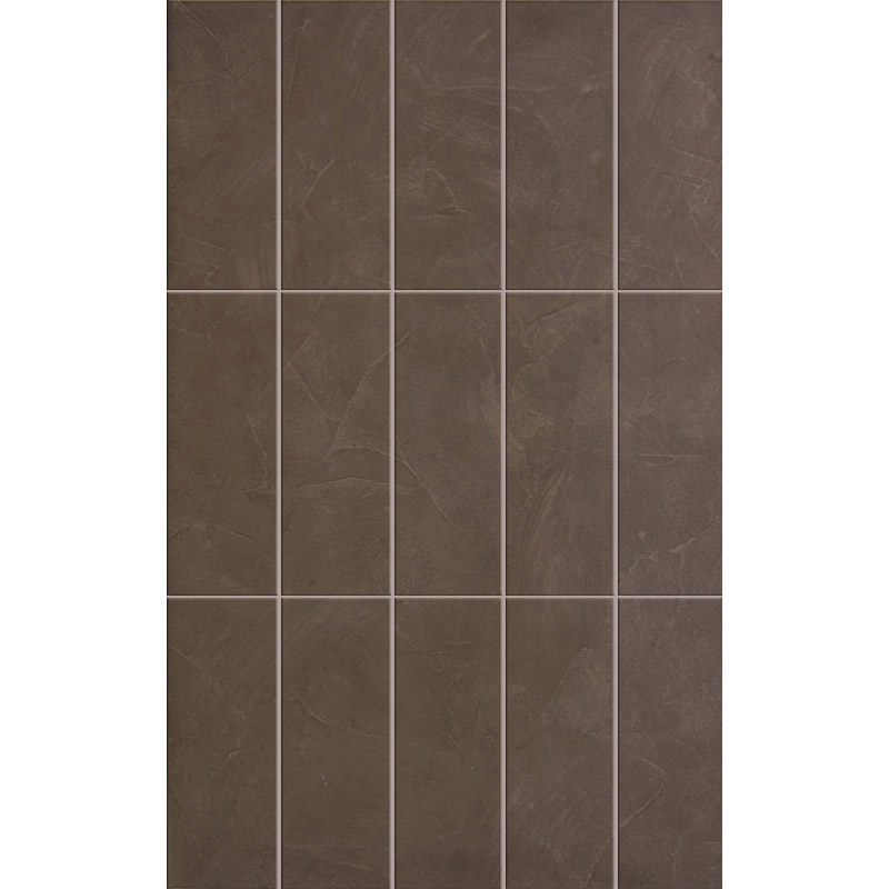 15 Taranto Matt Brown Pre Cut Wall Tiles - 25 x 40cm Large Image