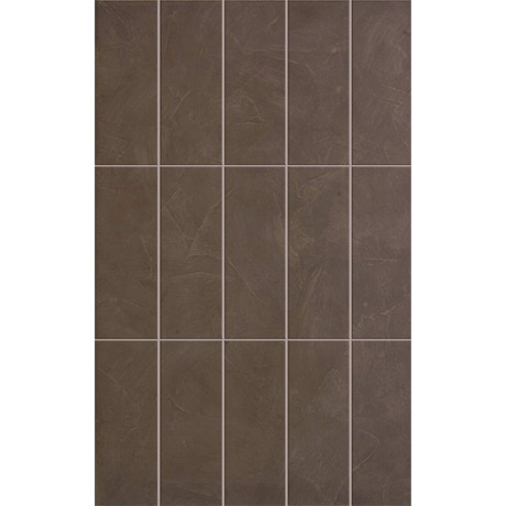 15 Taranto Matt Brown Pre Cut Wall Tiles - 25 x 40cm