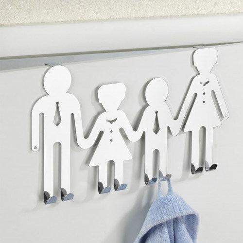 Wenko Happy Family Door Hook - Chrome - 15002100 Profile Large Image
