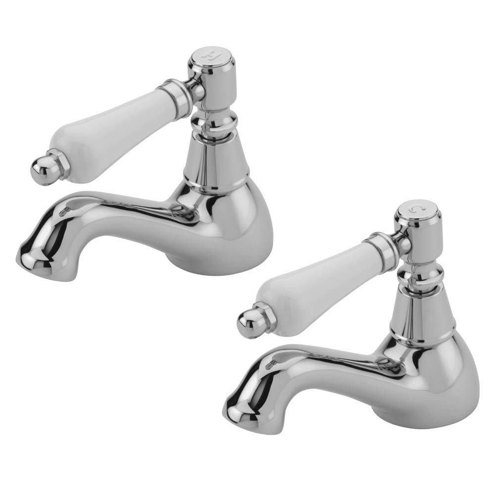 Tre Mercati Victoria Bianco Bath Taps - Chrome profile large image view 1