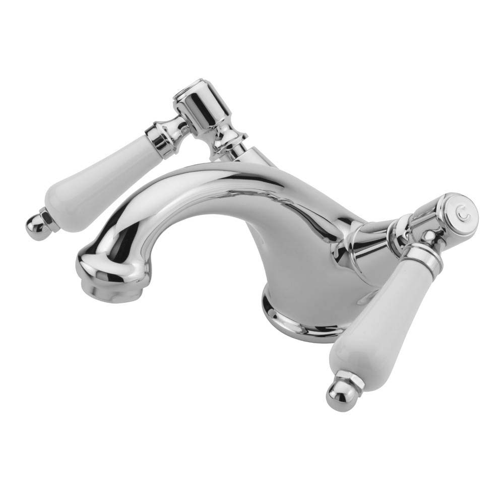 Tre Mercati Victoria Bianco Mono Basin Mixer with Click Clack Waste - Chrome