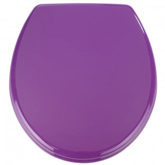 Wenko Prima MDF Toilet Seat - Purple - 152285100 Large Image