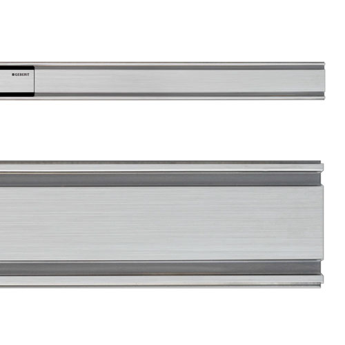 Geberit - CleanLine60 Thin Shower Channel - Brushed Metal profile large image view 2