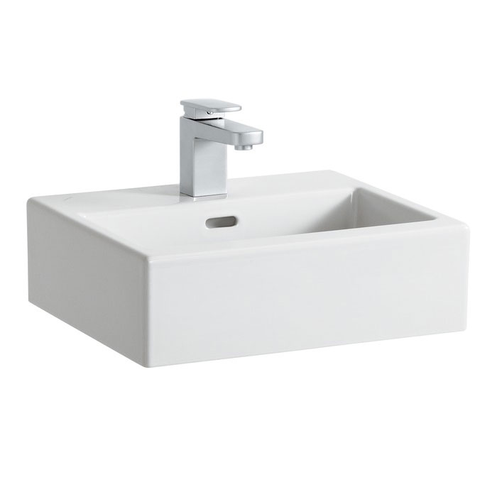 Laufen - Living City 1 Tap Hole 450mm Basin with Ground Base (Glazed All Sides) - 11430 Large Image