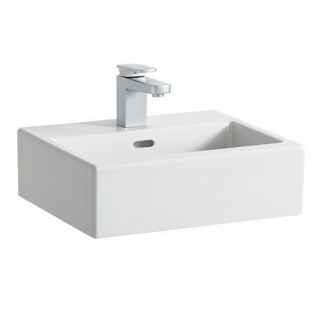 Laufen - Living City 1 Tap Hole 450mm Basin with Ground Base (Glazed All Sides) - 11430