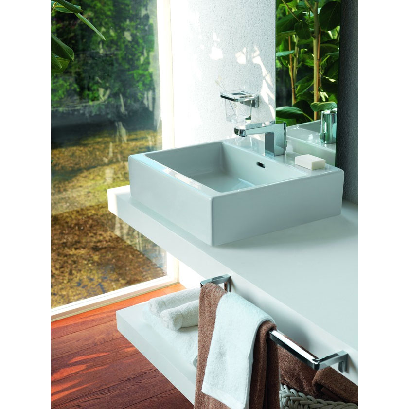 Laufen - Living City 1 Tap Hole 450mm Basin with Ground Base (Glazed All Sides) - 11430 Profile Large Image