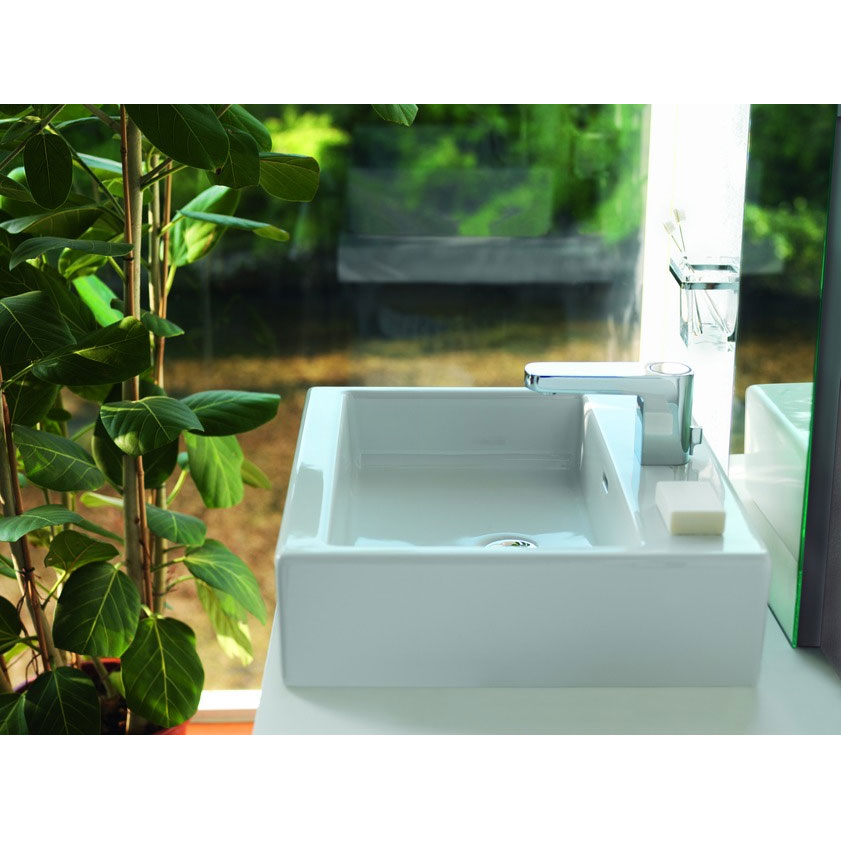 Laufen - Living City 1 Tap Hole 450mm Basin with Ground Base (Glazed All Sides) - 11430 Feature Large Image
