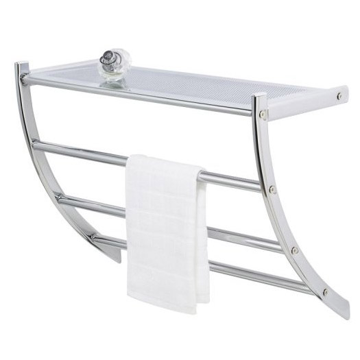 Wenko Pescara Exclusive Wall Rack - Chrome - 15578100 profile large image view 1