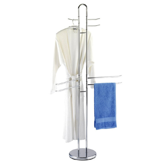 Wenko Palermo Exclusive Towel & Clothes Stand - Chrome - 15581100 profile large image view 1