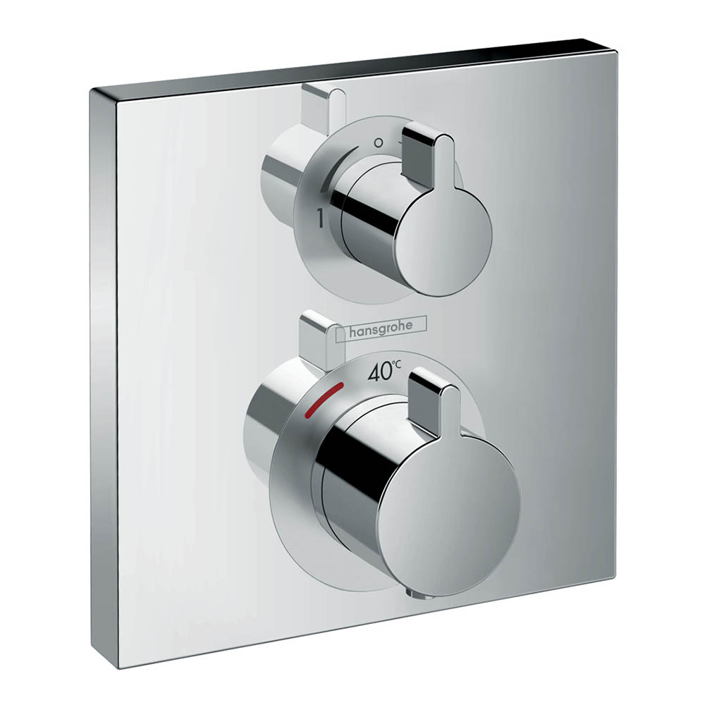 hansgrohe Ecostat Square Thermostat 2 Function Concealed Finish Set - 15714000