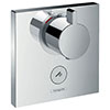 hansgrohe ShowerSelect HighFlow Thermostatic Mixer for Concealed Installation for Multiple Outlets - 15761000 profile small image view 1
