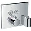 hansgrohe ShowerSelect Thermostatic Mixer for Concealed Installation for 2 Outlets with Hose Connection and Shower Holder- 15765000 profile small image view 1