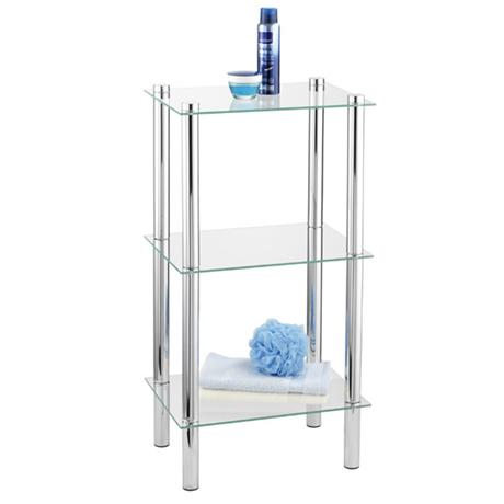 Wenko Yago Household and Bath 3 Tier Shelf - Chrome - 15851100