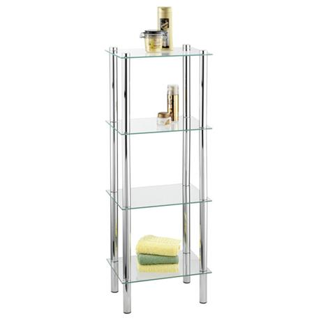 Wenko Yago Household and Bath 4 Tier Shelf - Chrome - 15853100