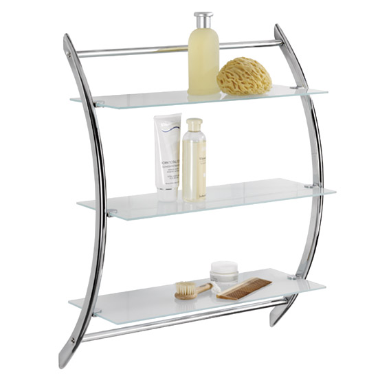 Wenko Vermont Exclusive Wall Rack - Chrome - 15895100 Large Image