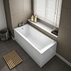 1700 x 700 Square Single Ended Bath + Panels profile small image view 1