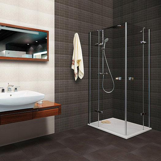 16 Taranto Matt Graphite Floor Tiles - 31.6 x 31.6cm Feature Large Image