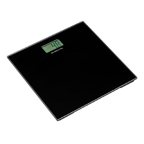 Black Tempered Glass Bathroom Scale