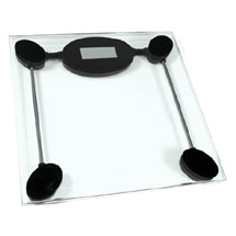 Clear Tempered Glass Bathroom Scale Medium Image