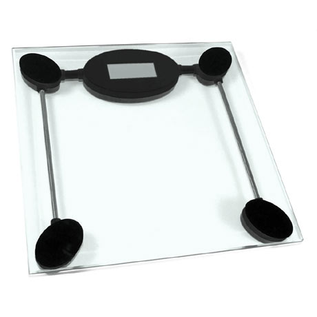 Clear Tempered Glass Bathroom Scale