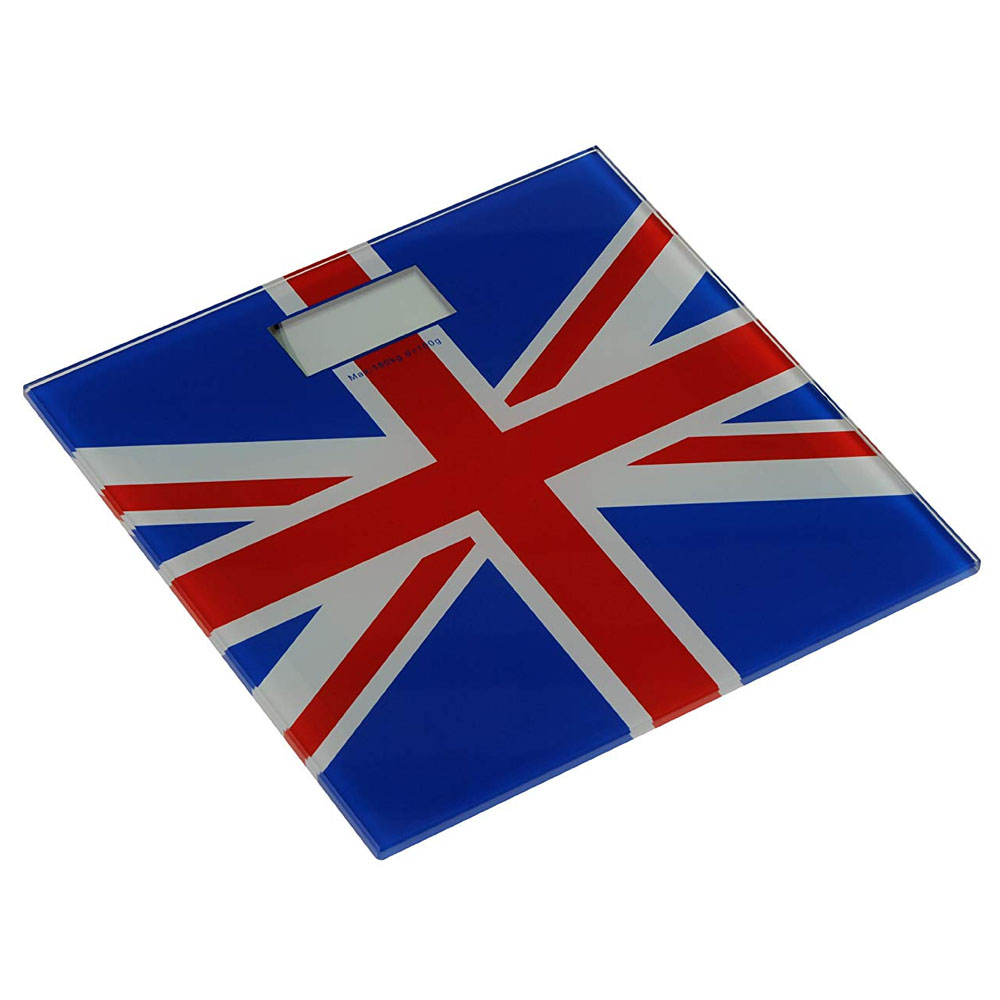 Union Jack Tempered Glass Bathroom Scale