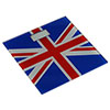 Union Jack Tempered Glass Bathroom Scale profile small image view 1