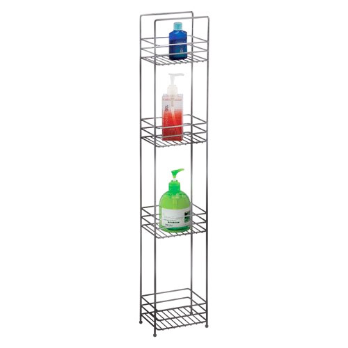Slim Line 4 Tier Bathroom Storage Rack - Chrome - 1600533 at ...