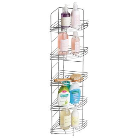 Chrome 5 Tier Wire Corner Storage Rack - 1600559