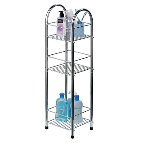 Chrome 3 Tier Bathroom Stand Small/Narrow - Freestanding - 1600730