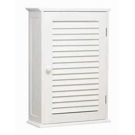 White Wood Wall Cabinet with One Inner Shelf - 1600900 profile large image view 1